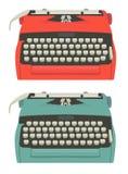 Rétro ensemble de machine à écrire illustration stock