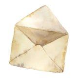 Rétro enveloppe ouverte d'aquarelle Icône de courrier de vintage sur le fond blanc Élément peint à la main de conception Photographie stock