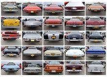 Rétro exposition de New York de vingt-cinq voitures de vue arrière Photographie stock