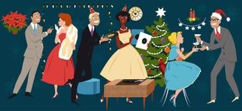 Rétro fête de Noël Photographie stock libre de droits