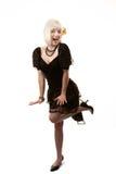 Rétro femme avec le cheveu blanc Images libres de droits