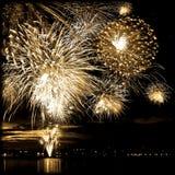 Rétro feu d'artifice de célébration en ciel Photo libre de droits