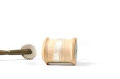 rétro fil en bois de bobine Image libre de droits