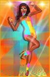 Rétro fille de danse de disco Photographie stock