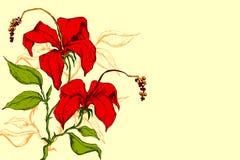 Rétro fleur Image libre de droits