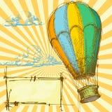 Rétro fond illustration stock