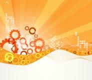 Rétro fond abstrait d'affaires de technologie de calculateur numérique Images stock