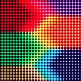 Rétro fond abstrait d'image tramée de couleur Images libres de droits