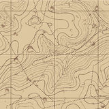 Rétro fond abstrait de carte de topographie image libre de droits