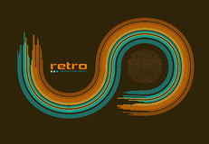 Rétro fond abstrait de disco -. illustration stock