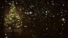 Rétro fond, arbre de Noël décoré clips vidéos