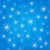 Rétro fond atomique sans couture de flocons de neige illustration libre de droits