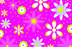 Rétro fond au néon de fleur Photographie stock libre de droits
