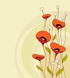 Rétro fond avec des fleurs Image libre de droits