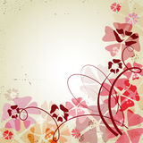 Rétro fond avec des fleurs de couleur Image libre de droits
