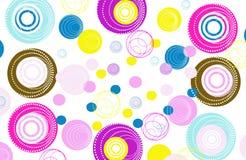 Rétro fond coloré de cercles Photographie stock libre de droits