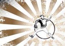 Rétro fond d'affiche de base-ball Photo libre de droits