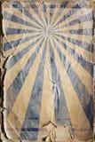 Rétro fond d'affiche de rayon de soleil de renaissance dans le bleu illustration de vecteur