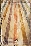 Rétro fond d'affiche de rayon de soleil de renaissance en couleurs Image stock