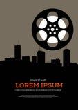 Rétro fond d'affiche de vintage de film et de film Images libres de droits
