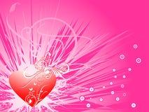 Rétro fond d'amour illustration stock