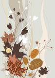 Rétro fond d'automne Images libres de droits