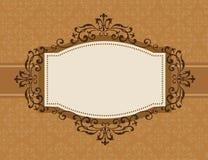 Rétro fond d'invitation Images libres de droits