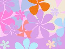 Rétro fond de fleur illustration de vecteur
