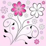 Rétro fond de fleur illustration stock