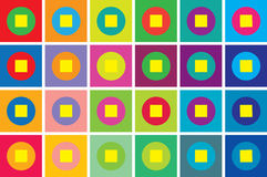 Rétro fond de la géométrie de type Photos stock