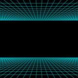 Rétro fond de la science fiction de lampe au néon Synthwave Vecteur illustration libre de droits