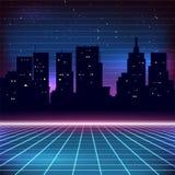 rétro fond de la science fiction 80s Photos libres de droits