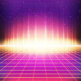 rétro fond de la science fiction 80s avec des effets colorés Photographie stock libre de droits