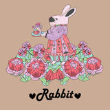 Rétro fond de lapin photos libres de droits