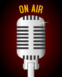 Rétro fond de microphone Photos stock