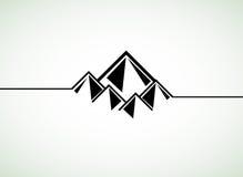 Rétro fond de montagnes Photographie stock libre de droits