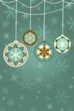 Rétro fond de Noël avec les babioles abstraites Photos libres de droits