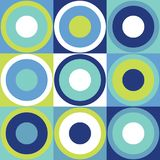 Rétro fond de tuile de conception avec les cercles colorés illustration libre de droits