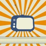 Rétro fond de TV illustration stock