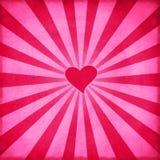 Rétro fond de Valentine photos libres de droits