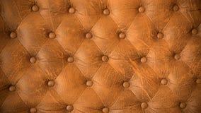 Rétro fond en cuir de Brown Photographie stock