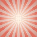 Rétro fond fané de lumière du soleil Fond rouge et beige pâle d'éclat de couleur illustration libre de droits