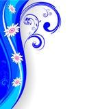 Rétro fond floral illustration de vecteur