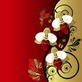 Rétro fond floral Images libres de droits
