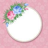 Rétro fond floral illustration stock
