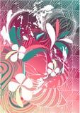 Rétro fond floral Photo stock