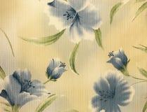 Rétro fond floral bleu de tissu de modèle Image stock