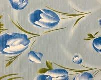 Rétro fond floral bleu de tissu de modèle Photo libre de droits