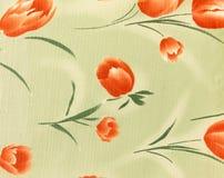 Rétro fond floral orange de tissu de modèle Image stock
