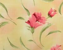 Rétro fond floral rose de tissu de modèle Photo stock